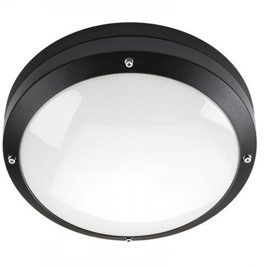 SG Canto LED lamp voor plafond of wand 19W 3000K mat zwart IP65 IK10 sensor