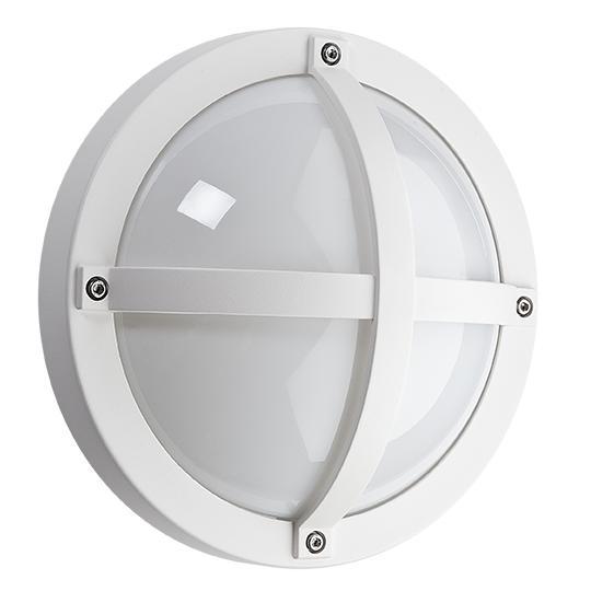 SG Solo LED wandlamp E27 mat wit rond IP65 IK10 611550