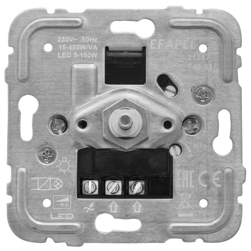 Efapel druk-/wissel dimmer voor dimbare ledlampen R,C 15-450W/VA / Led 5-150W