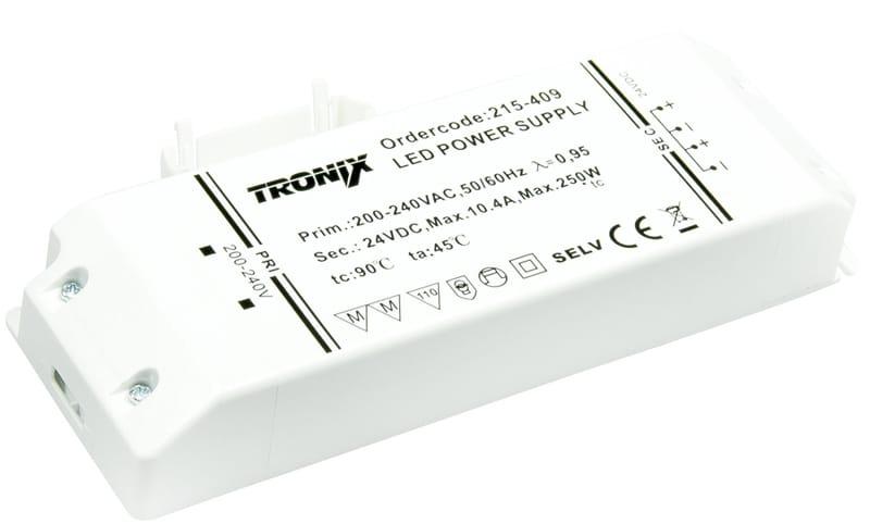 LED driver 24V 250W blokvoeding voor binnen IP20 Tronix