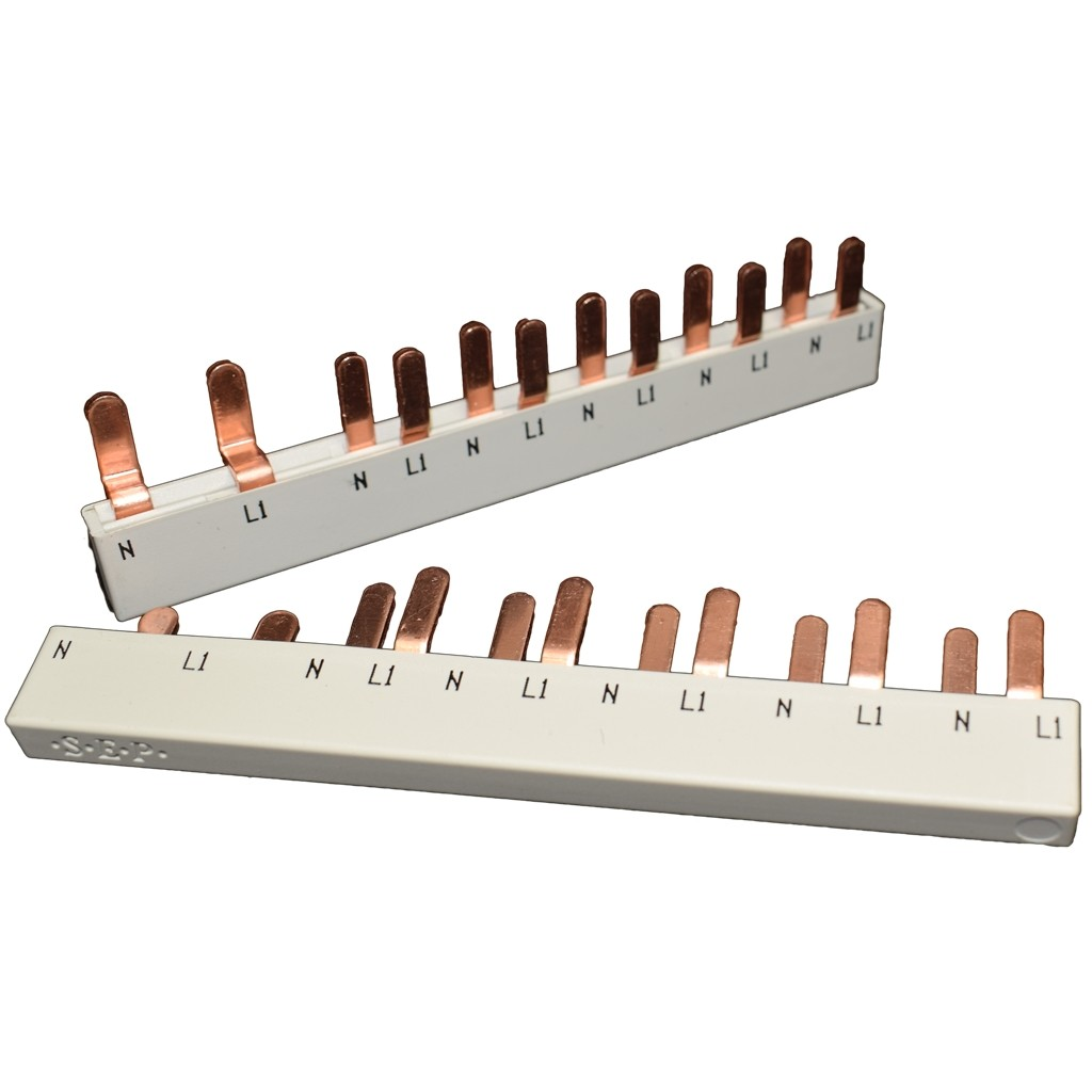 SEP Verdeelkam fase nul voor 1 aardlekschakelaar 2 modules en 5 automaten 1 modu