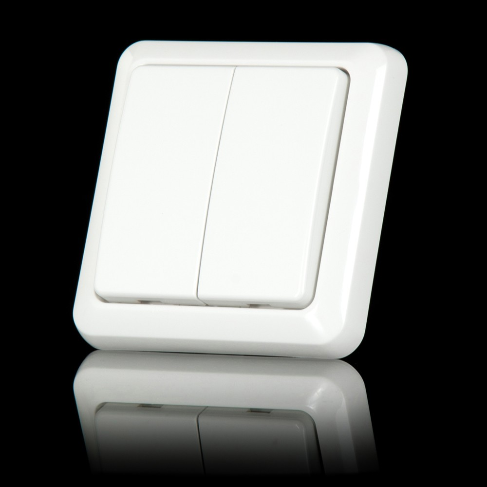 KlikAanKlikUit Wandschakelaar dubbel AWST8802 + preset stickervel