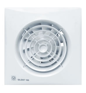 S P Silent 100 CHZ badkamerventilator met instelbare nalooptimer en hygrostaat w