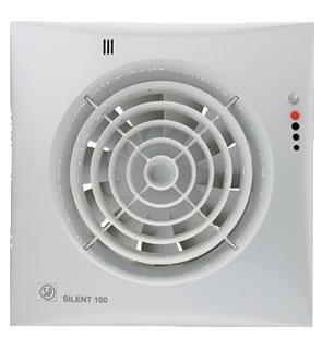 S P Silent 100 CHZ badkamerventilator visual met instelbare nalooptimer en hygro