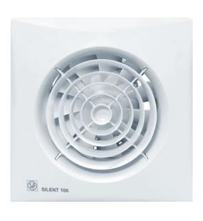 S P Silent 100 CRIZ badkamerventilator met vertraagde aanloop en instelbare nalo