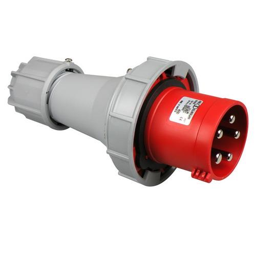 CEE stekker 63A 5 polig 400V IP67rood ABL