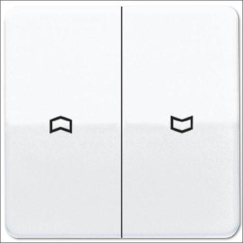 Jung CD500 drukknop voor jaloezieschakelaar wit