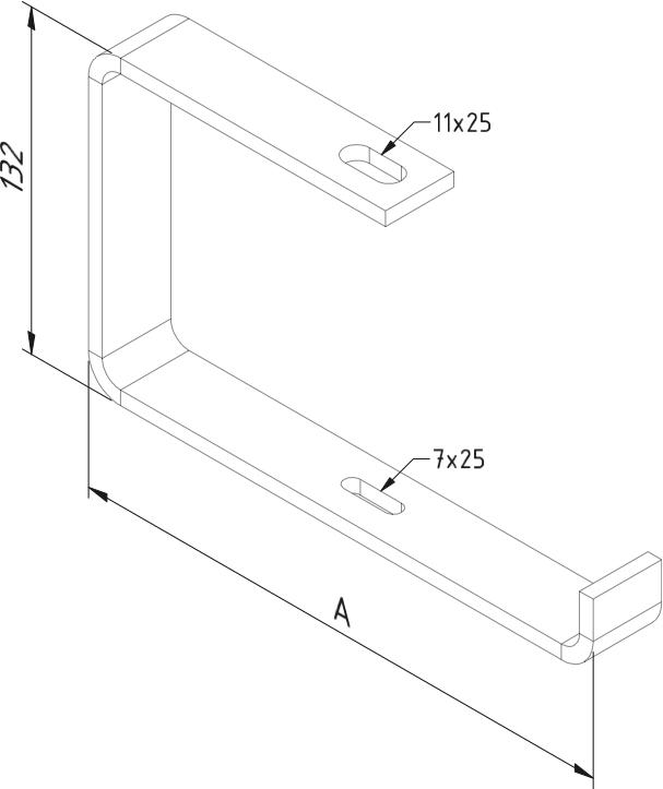 Open C beugels 200mm voor kabelgoot gegalvaniseerd Trayco