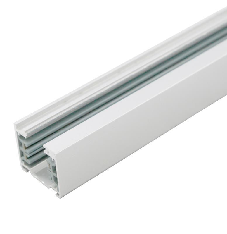 Spanningsrail wit 3 meter voor railspots LED