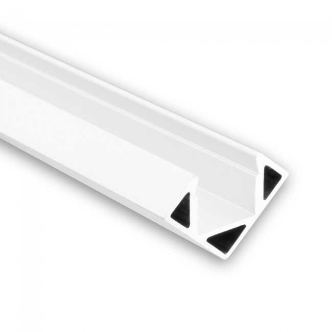 Hoek LED profiel PO23 wit strip max 115mm breed 8104053