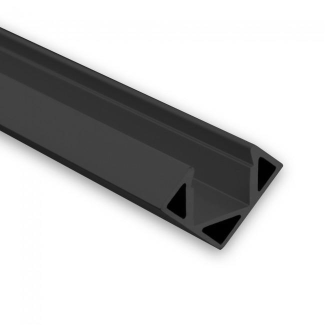 Hoek LED profiel PO23 zwart strip max 115mm breed 8104054