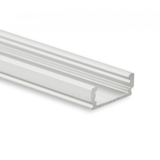 LED profiel PL1 aluminium 200 cm voor LED strip tot 12mm