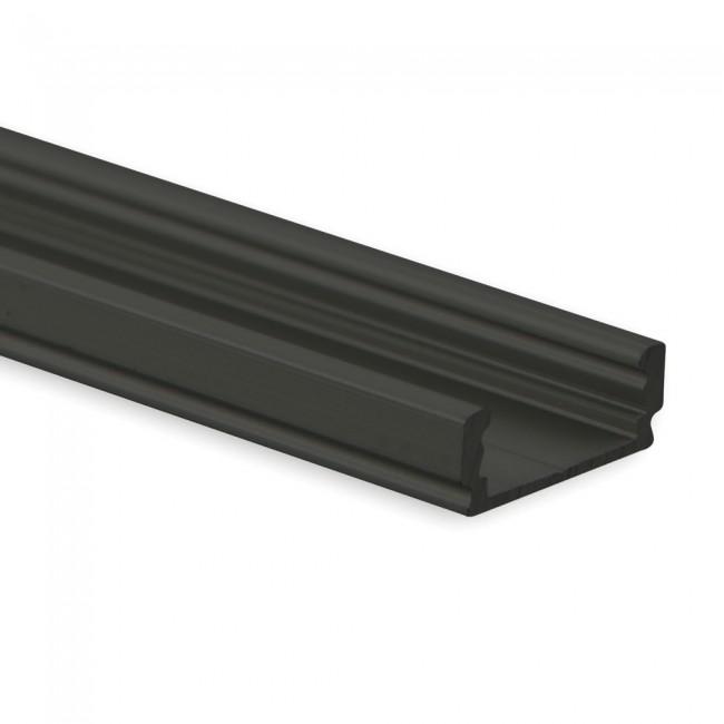 LED profiel PL1 zwart 200 cm voor LED strip tot 12mm