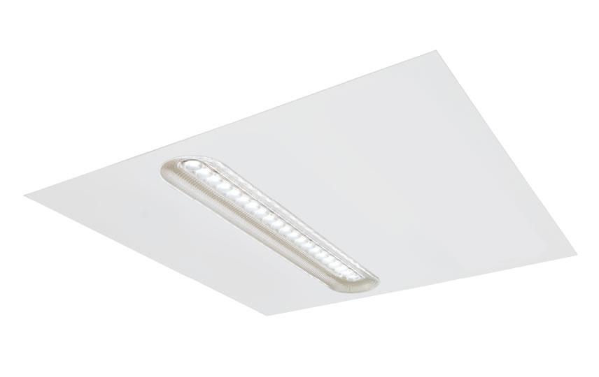 Kantoor LED verlichting Molior Line 1 lijn systeem 14W 1520 lumen 3000K 592x592 wit