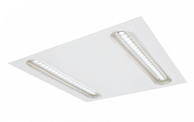 Kantoor LED verlichting Molior Line 2 lijnen 32W 3440 lumen 3000K 592x592 wit
