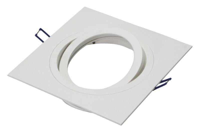 AR111 armatuur inbouw 1 voudig 180mm wit vierkant 148-034 Tronix