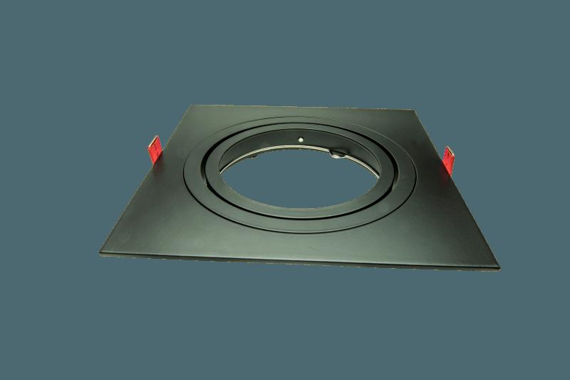 AR111 armatuur inbouw 1 voudig 180mm zwart vierkant 148-034-7 Tronix