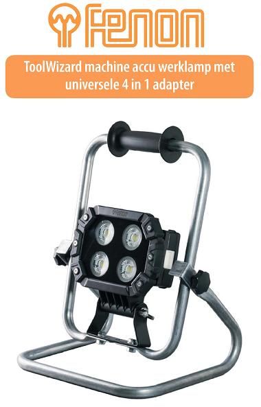Accu werklamp met universele accu adapter 3700lm