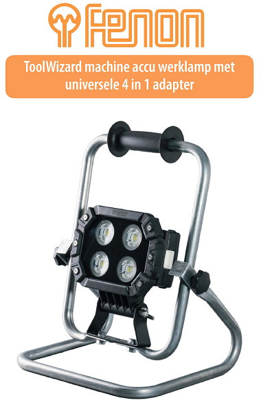 Accu werklamp met universele adapter