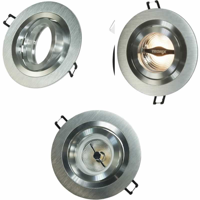LED inbouwspot kantelbaar 70mm AR70 aluminium 148 026
