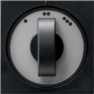 Gira draaiknop driestandenschakelaar Systeem 55 zwart mat