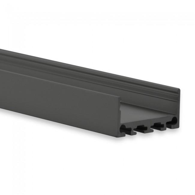 LED profiel PN4 zwart 27mm breed 12mm hoog 8201014
