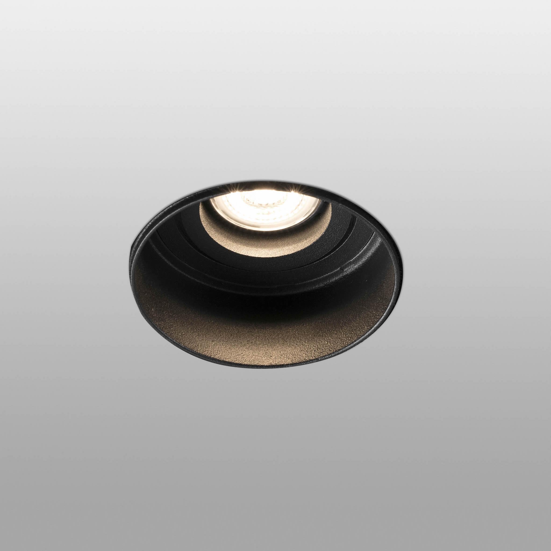 LED Spot zwart GU10 IP20 55mm hoog diameter 82 HYDE Trimless Faro