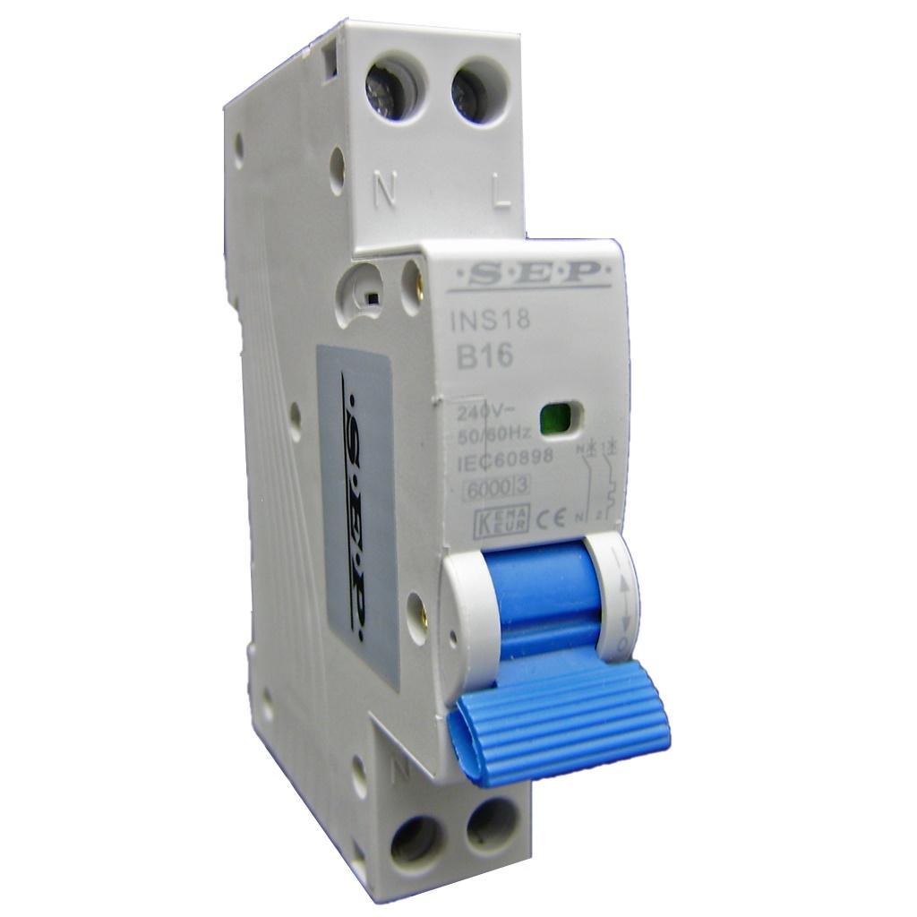 SEP Installatie automaat B03 1polig+n 6kA 18mm breed
